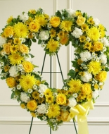 Yellow and White Floral Heart