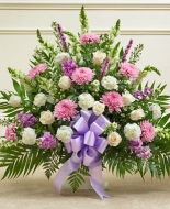 Sympathy Mixed flower floor basket