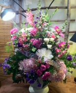 Beautiful Large Arrangement in an Urn for a Pedestal or Alter,Beautiful