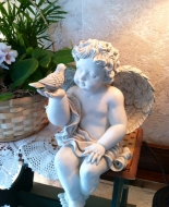 Angel on Bench,shelf or in and arrangement