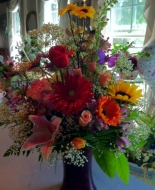 This Beautiful Large Garden Vase of mixed Flowers is a Thoughtfull Vase to send showing how much you care to the Home or Service