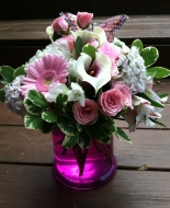What a pretty vase to send to a Home or Service