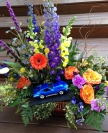 This was a special arrangement with a Corvette was his favorite