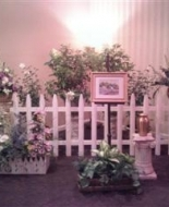A Beautiful Garden Setting Created For their Mom at Glenville Funeral Home