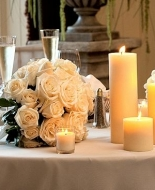 Beautiful white roses for your Holiday Table